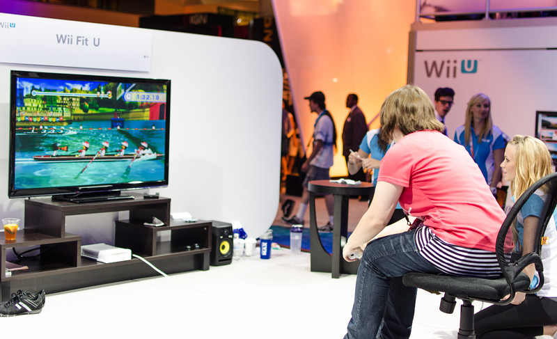 Yep, that a Wii U game with raffling at E3 2012