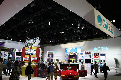Gree had the largest booth at E3 for mobile games.