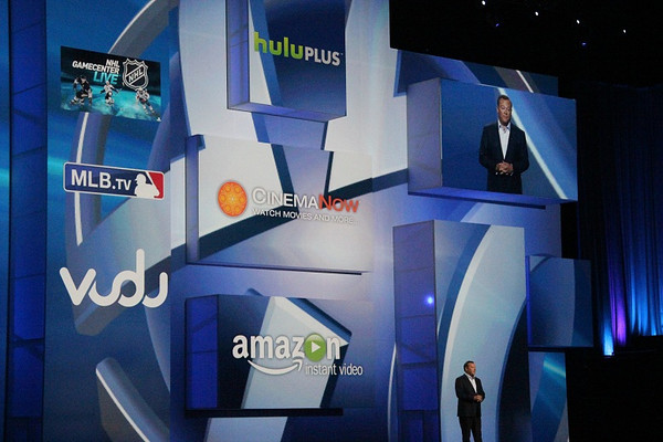 Sony touts the entertainment apps available on the PS3.