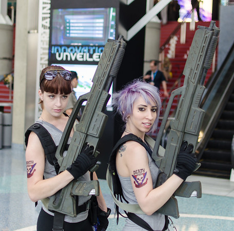 Starship Troopers girls at E3 2012