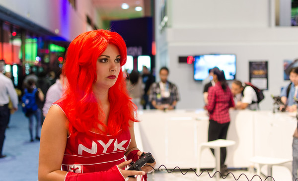 Nyko girl at E3 2012