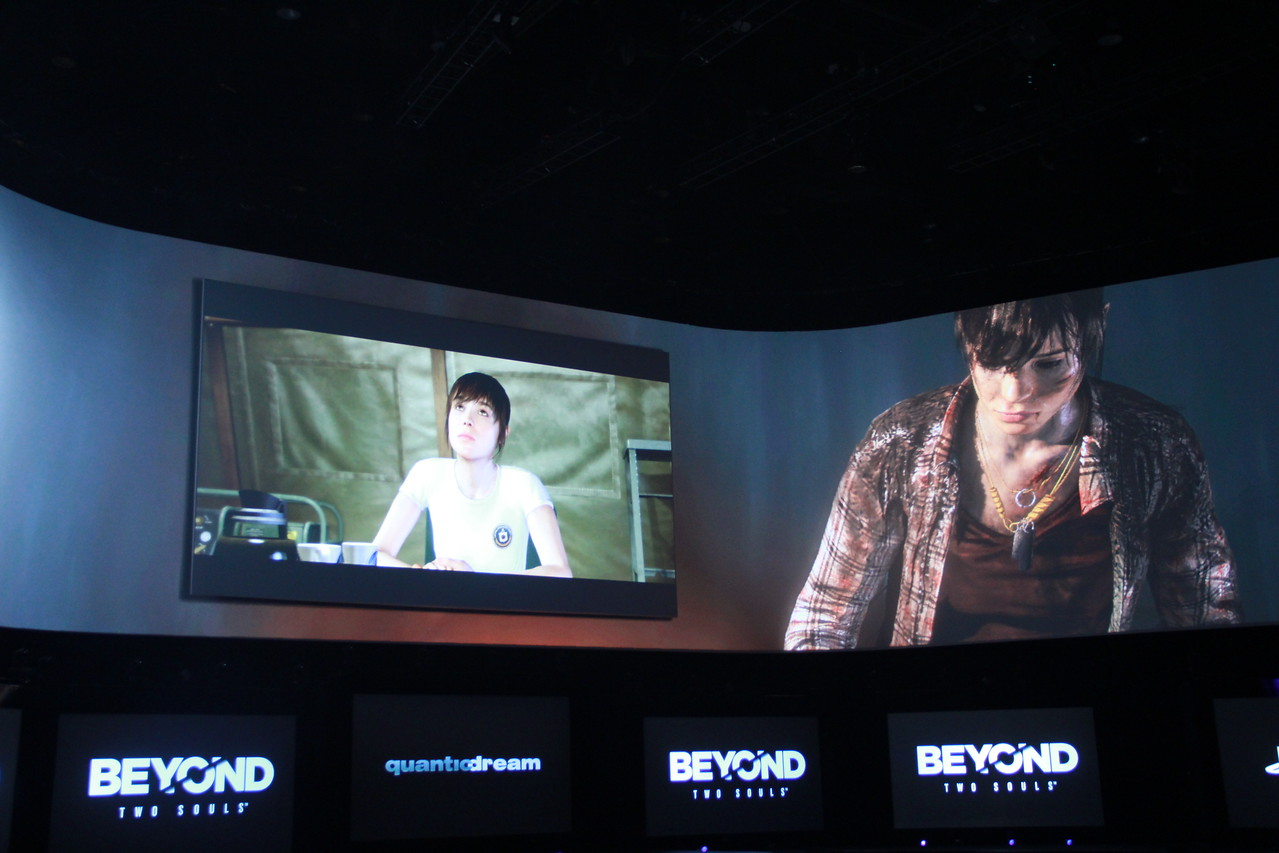 "Sony previews ""Beyond: Two Souls"" at its PlayStation press conference."