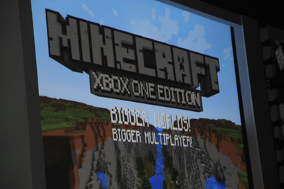 Minecraft, one of the most-played titles on Xbox Live, is coming to the Xbox One.