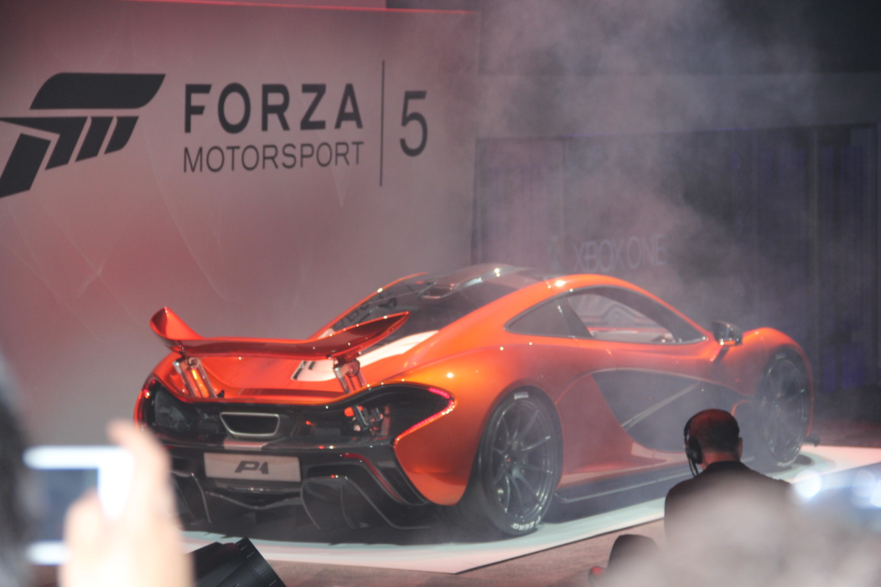 Microsoft Xbox trots out a hot-rod car for Forza Motorosport 5. Vroom!