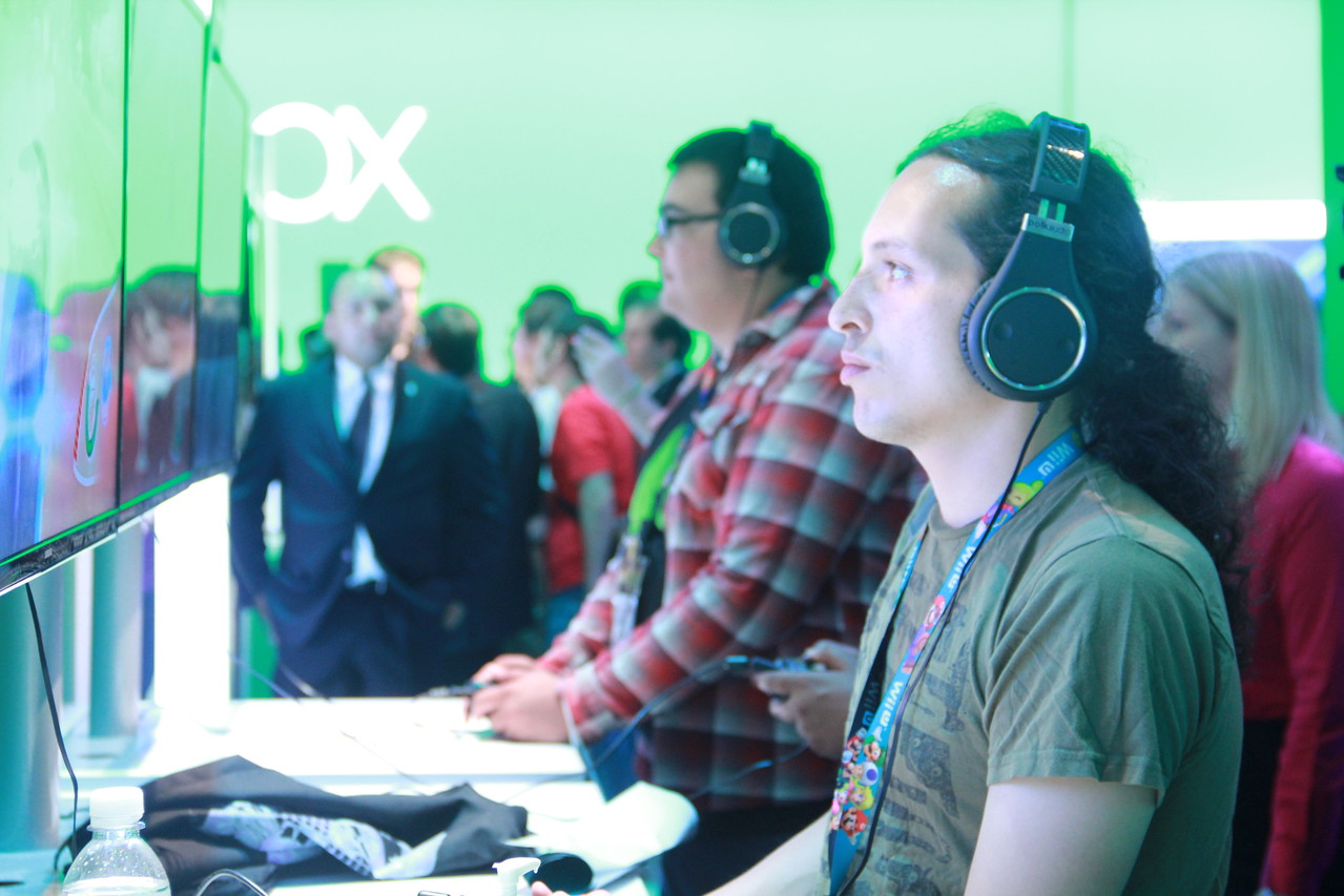 When your face starts to turn green it's time to go home. Unfortunately, that's hard to pinpoint at the Xbox booth.