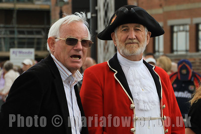 Richard Colley and Town Crier James Cole. Essex Air Ambulance Motorcycle Run 2013