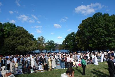 Eid ul Fitr prayer in Astoria Park