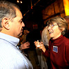 1104ELECT1.JPG Newly elected City Council member George Karakehian (cq)(left) and re-elected City Council member Suzy Ageton (cq)(right) chat at the Boulder Draft House in Boulder, Colorado November 3, 2009. CAMERA/Mark Leffingwell