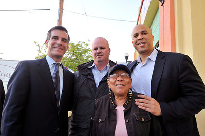ERIC GARCITTI IS ENDORSED BY MAYOR OF  NEWARK NEW JERSEY CORY BOOKER FEBRUARY 26, 2013. (Photo by Valerie Goodloe)