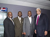 Marvin Bishop, President, Dynamic Thought Institute, Dr. James Frank, first Black President of the NCAA, ESP President Everett Glenn and Wayne Embry, first Black general manager in the NBA and current Senior Advisor, Toronto Raptors
