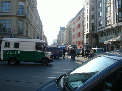 Police blockage