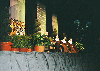 Deacon Bill Steltemeier and Poor Clare nuns