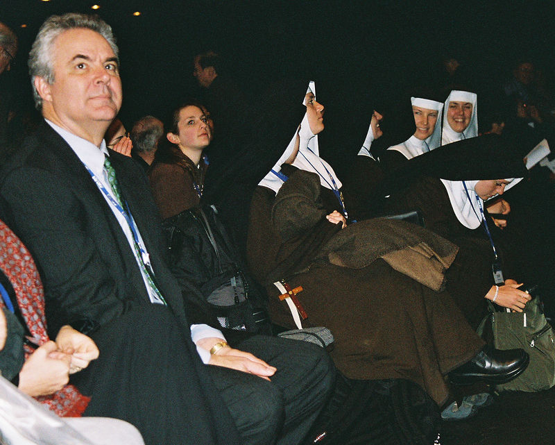 Marcus Grodi, host of The Journey Home, with nuns