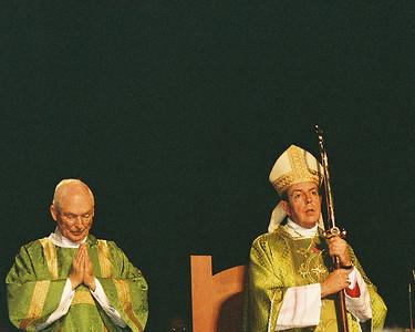 Deacon Bill and Bishop Vigneron
