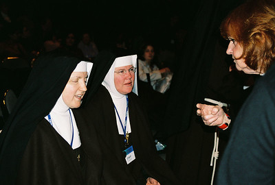Nuns and fan