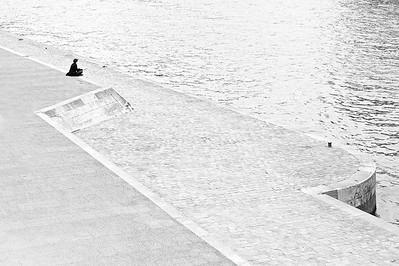 Tranquilidad en las orillas del río Sena