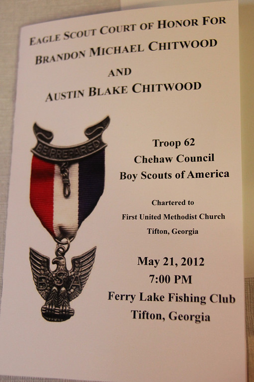 Brandon & Austin Chitwood Eagle Scout Court of Honor