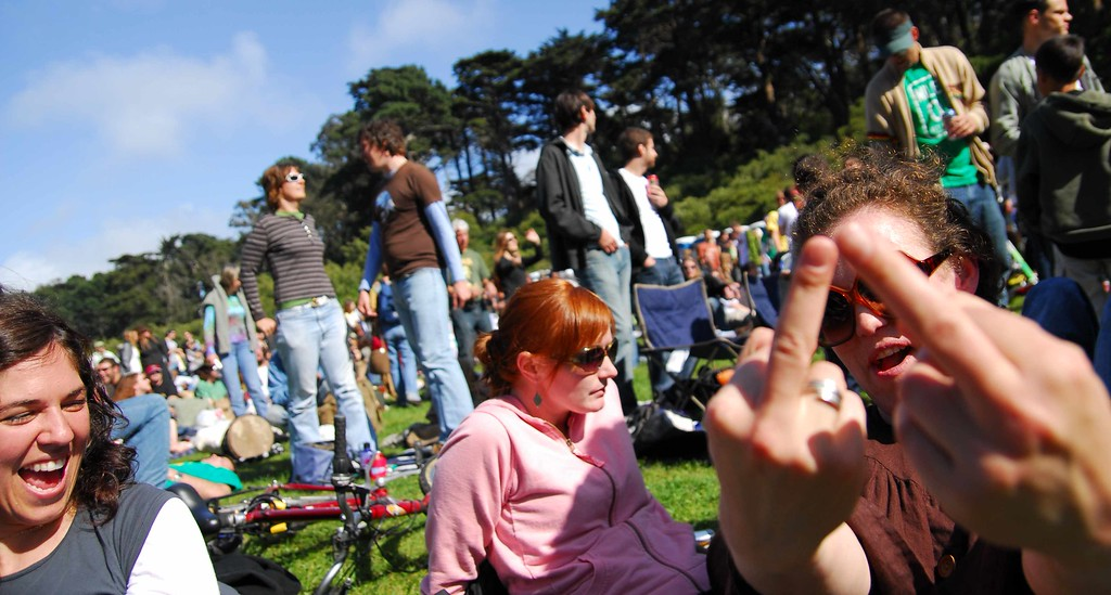 More lady fingers by Esther? at Earthday concert at GG Park