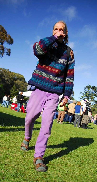Scary guys at Earthday concert at GG Park