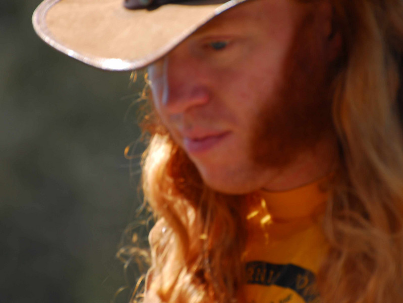 Red headed cowboy hippie? at Earthday concert at GG Park