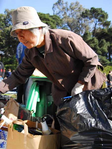 Asian ladies love recycling at Earthday concert at GG Park
