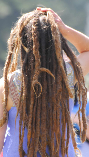 Nice dreads...girl?  at Earthday concert at GG Park