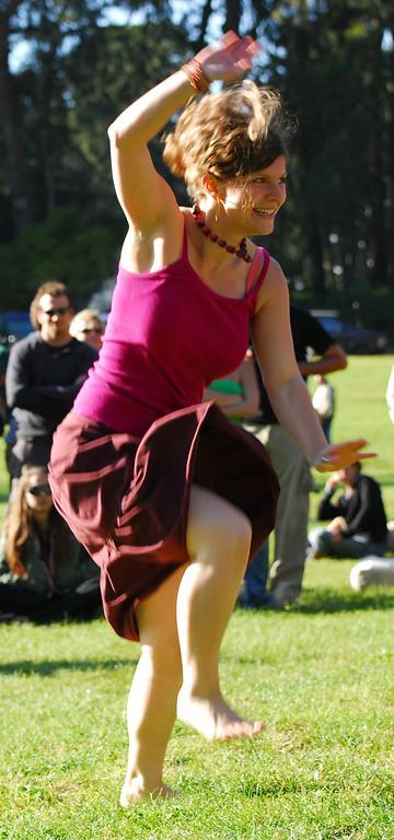 Drum dancer girl Earthday concert at GG Park