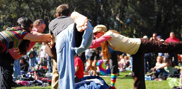 Yogi freaks at Earthday concert at GG Park