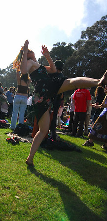 Acid girl again at Earthday concert at GG Park