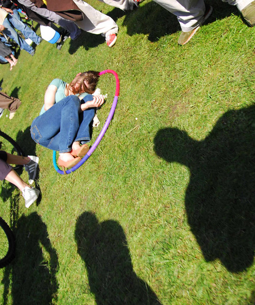 Girl in hula-hoop in Earthday concert at GG Park