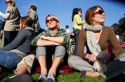 All the lovely ladies at Earthday concert at GG Park
