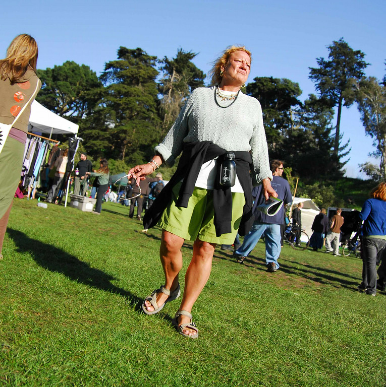 Scary lady at Earthday concert at GG Park