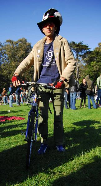 Biker guys at Earthday concert at GG Park