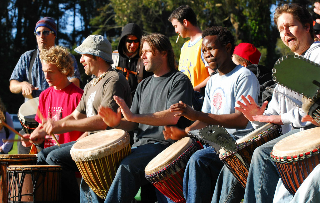 Drum  line at Earthday concert at GG Park
