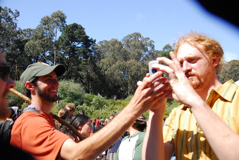 Dave and Volker at Earthday concert at GG Park