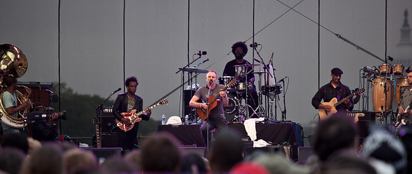 Sting and The Roots were featured performers as thousands gathered for the Climate Rally held at the National Mall in Washington DC, a free concert for the 40th anniversary of Earth Day.  April 25, 2010.  (Photo by Jeff Malet)