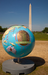 "Hot Ideas for a Cooler Planet, is a public art project designed to raise awareness on solutions for global warming. In Washington DC, ""Prairie Restoration"" globe by artist Nina Weiss. April 22, 2010 marked the 40th Anniversary of Earth Day.   (Photo by Jeff Malet)"