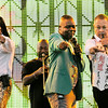 "Don Knight | The Herald Bulletin<br /> Earth, Wind &  Fire opened Hoosier Park's ""Sounds of Summer"" summer concert series on Friday. From left are Verdine White, Phillip Bailey and Ralph Johnson."