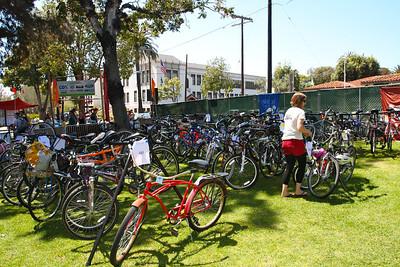 Bike Valet around noon  http://www.youtube.com/watch?feature=player_embedded&v=mHrYdMaZYFM