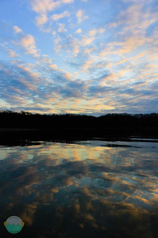 East Fork Lake<br /> Sunset over East Fork Lake while kayaking.