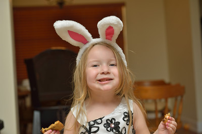 Bunny ears and cookies!