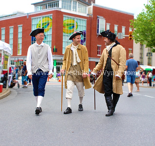 Reenactors in Centre Square Easton PA Home of the Crayola Experience.