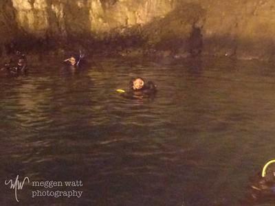 Meggen diving in Bonne Terre Mine