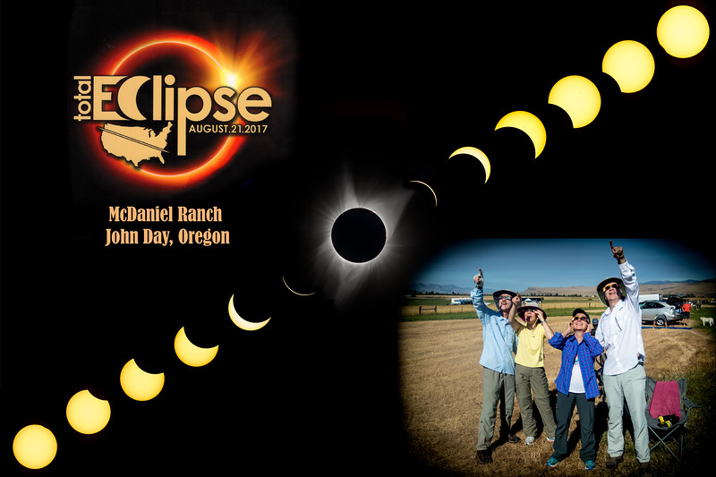 Eclipse 2017 from the McDaniel Ranch, John Day, OR