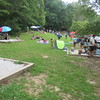 view from other end of picnic area just after the eclipse started