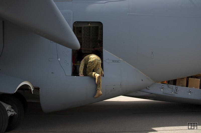 One way to enter the C-17 Globemaster