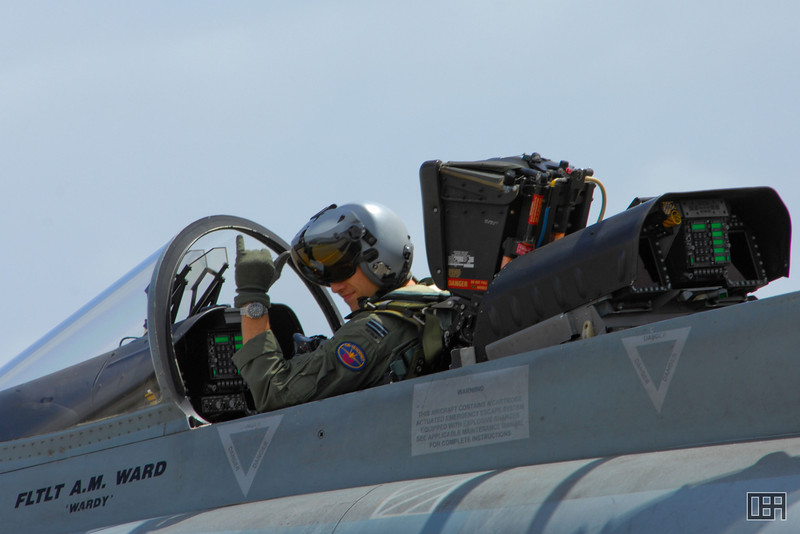 "F/A-18 Hornet, FLTLT A. M. Ward ""Wardy"""