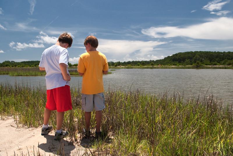 Fishing Edisto Creeks with Bob on the Hagerty Russell Creek property, Edisto