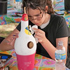 Gourd painting activity at Indigo Farms