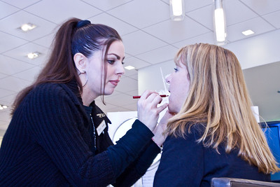 Jennifer Murphy, beauty consultant (left)